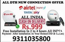 Tata sky And Airtel DTH New HD Connection With Free Installation