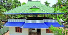 Roofing work and welder