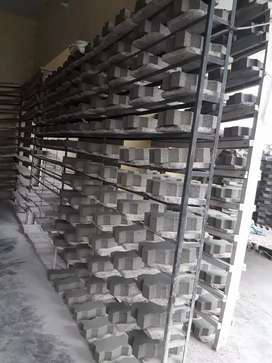 Complete setup of block and tuff tiles making on rent