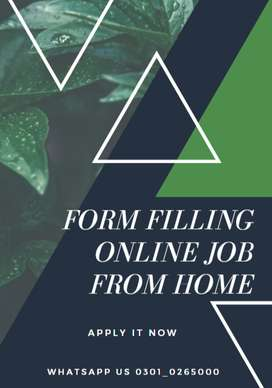 We are here to give you employment- Online Form filling Jobs available
