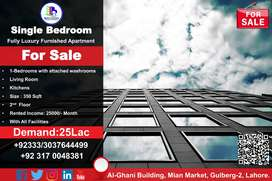 Single Bed Residential Apartment for Sale in Al-Ghani Building