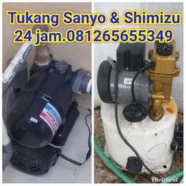 GARANSI TUKANG service Sanyo,Shimizu,instalasi air.cepat,jujur.