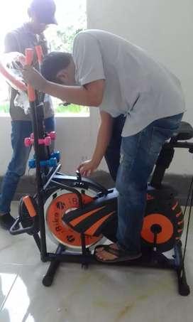 Sepeda statis kebugaran trackerfam 50 kenjeran