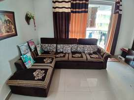 L Shaped Sofa cum Bed with Storage