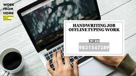 HANDWRITING JOB (HOME BASED WORK)