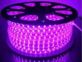 KEREN ..LAMPU LED STRIP UNGU PURPLE SMD 5050 MATA BESAR SUPERR TERANG