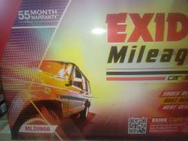 Battery exide mileage 55 months warranty Fortuner car duster car also