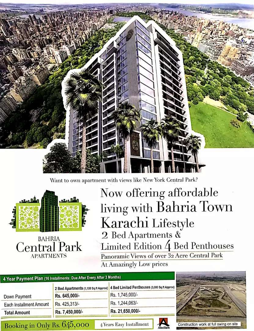 Get Huge Discount in New Central Park View Apartment's 0