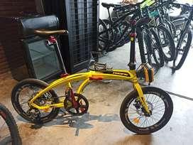 Sepeda lipat pacific noris 2.1 kuning