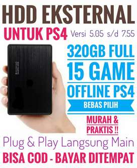 HDD 320GB Murah Terjangkau FULL 15 Game Terlaris PS4 Bebas Pilih