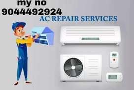 All tayep Airconditioning Refrigerator. Washing machine. Microwave.