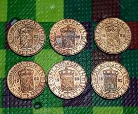 Uang Kuno Jaman VOC 1/2 Cent tahun 1932