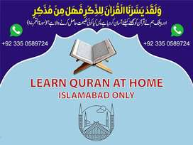 Quran tutor for Home in islamabad