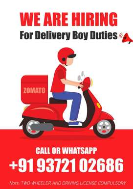 Job Vacancy for Food Delivery Boy Surat Salary For 12,000 to 16,000