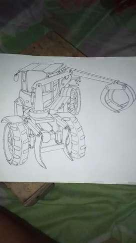 Grabber traktor modifikasi