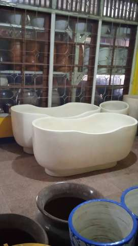 Bathtub lengkung marmer