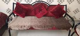 Wrought iron 5 seater sofa set