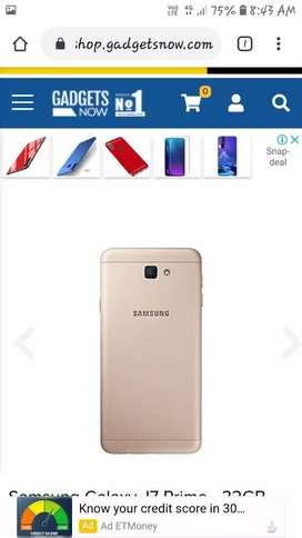 Samsung j7 prime  3 gb ram 16 rom