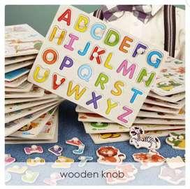 Mainan anak/ puzzle knob/ puzzle kayu/ wooden puzzle