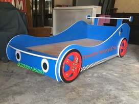 Car Bed in Factory Price. All type of Baby Furniture in Deco Paint