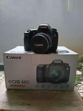 Canon 60D Fulset Lensa kit 18-55mm