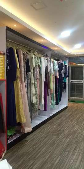 Designer boutique with all products and dresses