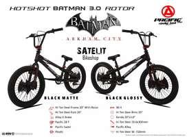 Sepeda BMX Anak Cowok Ukuran 20 Inch Pacific Batman Hotshot 3.0 Rotor