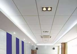 False ceiling , wall papers, flooring