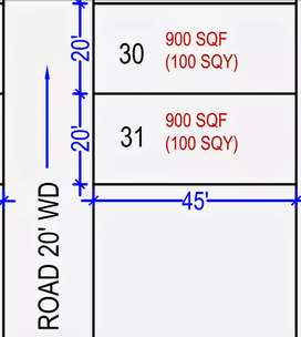 40×45 plot in a very good location in reasonable price