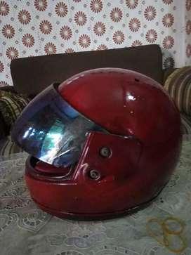 Helm warna merah fullface murmer