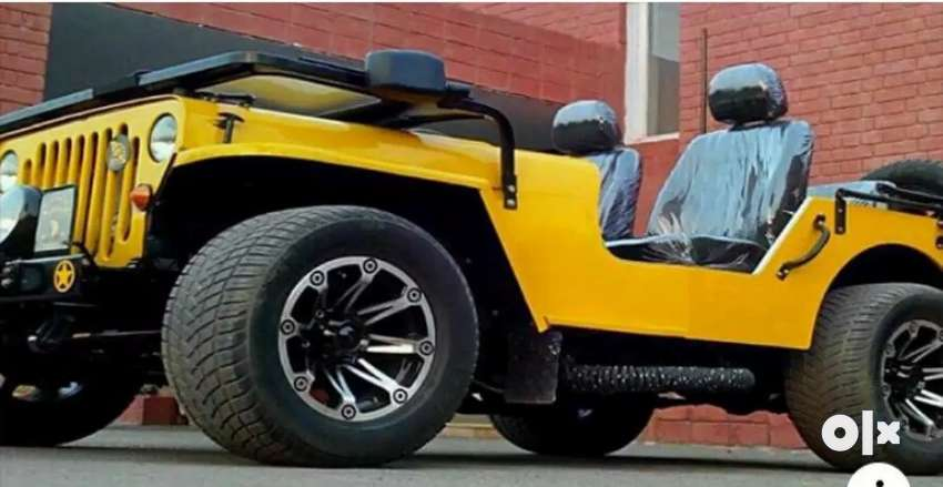 Modified new yellow jeep 0