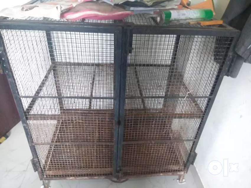 पिंजरा 3/3 फुट.. कबुतर, ससा. ठेवण्यासाठी उपयोगी. 0