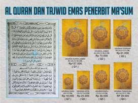 Al Quran Ma'sum Cover emas murah bermacam ukuran (Purworejo)