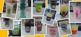 Gelas Sablon, Cup Printing, Lid Rol, Paper Cup / Bowl ber-Logo Sendiri