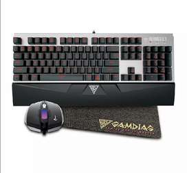 Sealed GAMDIAS Hermes E1 Mechanical Keyboard and Mouse with Mouse Pad