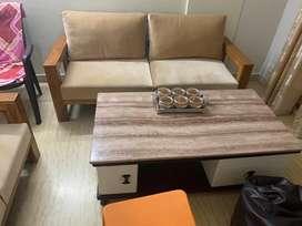 Five seater sheesham sofa set 6 months old