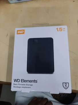 WD PORTABLE HARD DISK 1.5 TB NEW BRAND