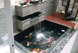 Kolam ikan hias/kolam ikan batu alam
