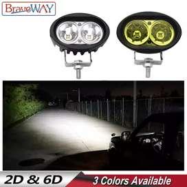 NEW LED Work Light Motorcycle Car BIKE SUV OffRoad 12V Fog Light Lamp
