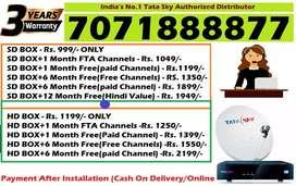 Best Offer- Tata Sky DTH Connection- Tatasky DishTV D2H Videocon Dish