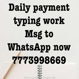 simple typing work only in notepad.  Fresher's,housewife and retired p