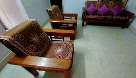 Pure teak wood 5 seater sofa