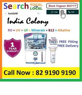 IndiaColony1 AquaGrand RO Water Purifier Water Filter AC dth bed car A
