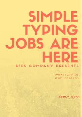 Simple typing jobs a great opportunity for job seekers to earn cash