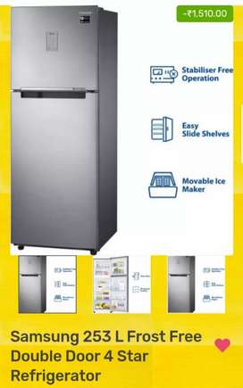 Samsung 253 L frost free double door four star refrigerator