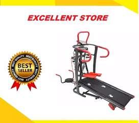 treadmill manual 6fungsi FC-8009 alat fitnes