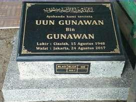 Plakat Prasasti Batu Nisan Marmer Granit Cor Makam Kuburan Pemerintah