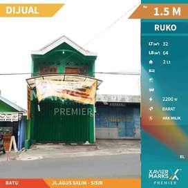 Dijual Cepat Ruko Strategis 2 lantai di Jalan Agus Salim, sisir Batu
