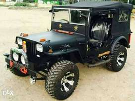 Mahindera open willys jeep mate black colur