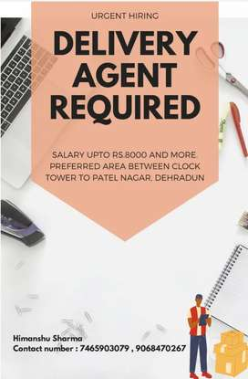 Need delivery agent urgently